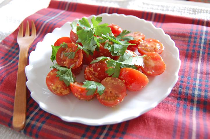 トマトのはちみつマスタードマリネ