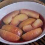 りんごの赤ワイン蒸し