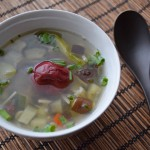 夏野菜と梅の塩麹スープ
