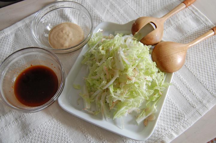 白菜と桜えびのサラダ