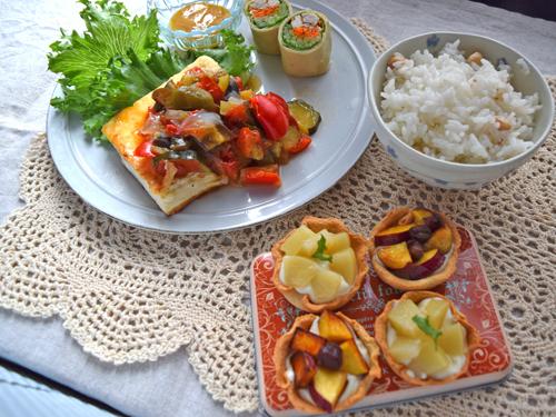 9月料理教室レポ「豆腐クリームのフルーツタルト」