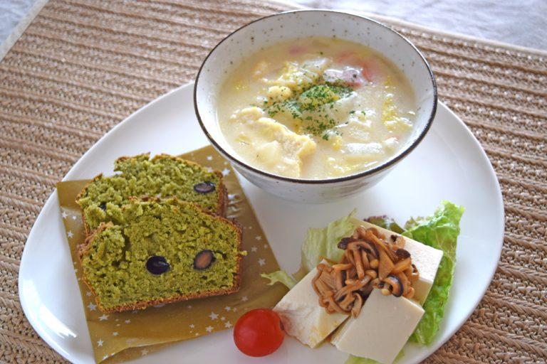 11月料理教室レポ「生おからの抹茶パウンド」