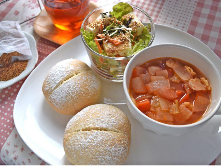 3月料理教室レポ「生おからパンとおから茶」