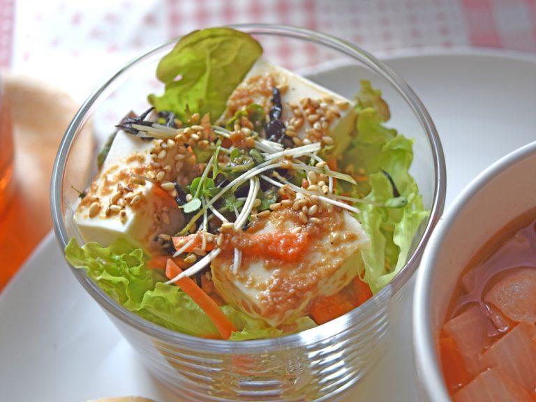 豆腐サラダ/ごまドレ